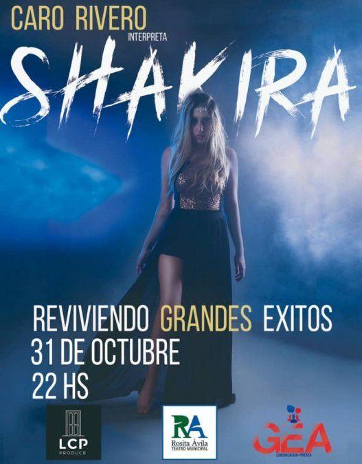 Realizarán un homenaje a Shakira en el teatro Rosita Ávila