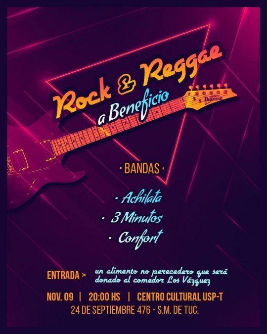 Realizan un festival de rock y reggae a beneficio del Merendero en Los Vázquez