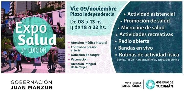 Se lanza la Tercera Edición de Expo Salud en Plaza Independencia