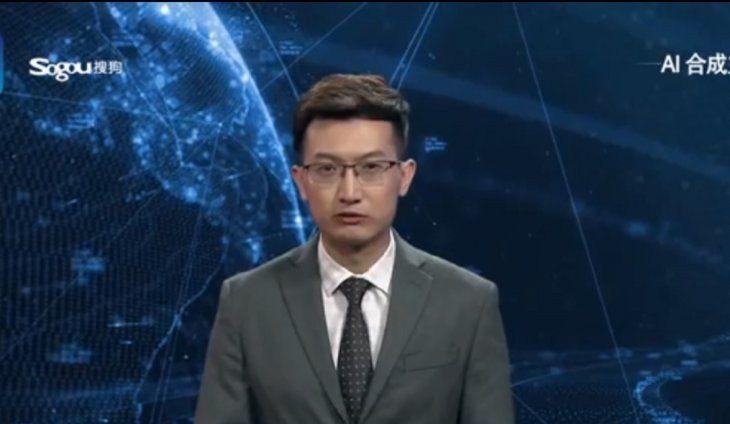 Una agencia china contrató al primer robot presentador de noticias