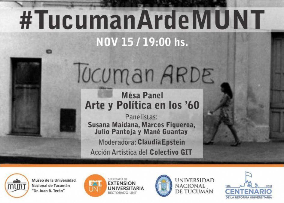 Realizarán una mesa de arte y política para recortar el Tucumán Arde