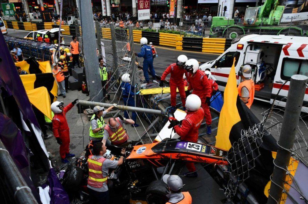 Accidente en el Gran Premio de Macao dejó un saldo de cinco heridos