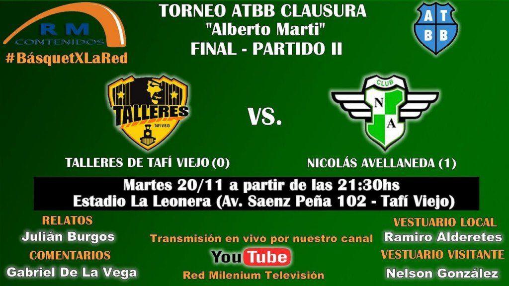 Talleres y Nicolás Avellaneda van por el título local