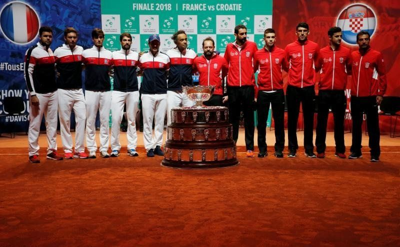 Francia y Croacia van por un título de Copa Davis lleno de nostalgia