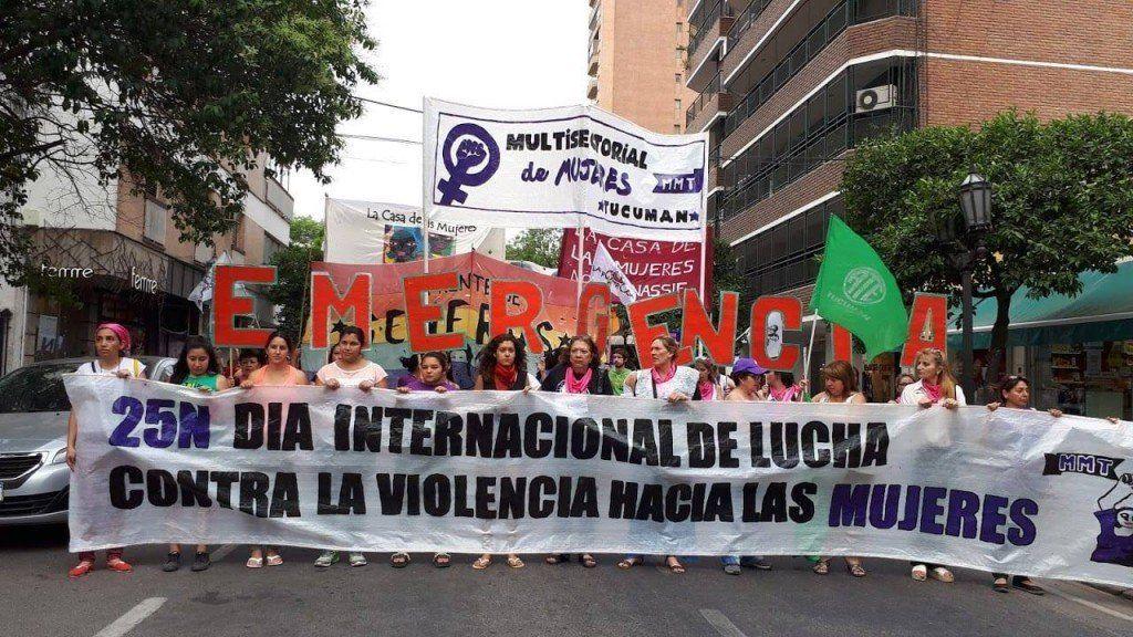 La Multisectorial de Mujeres marcha contra la Violencia de Género