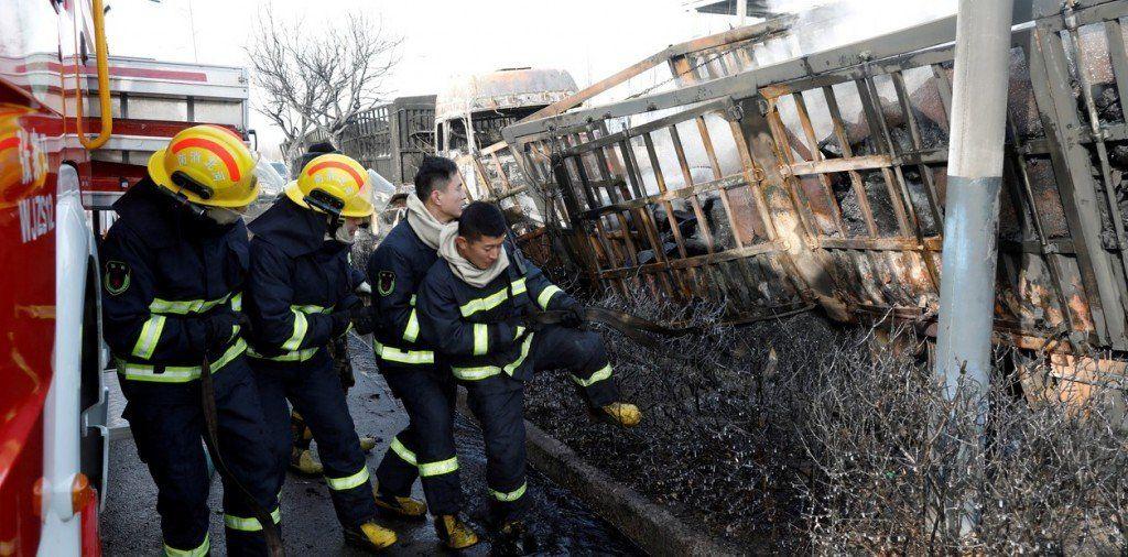 Una explosión química mató a 22 personas en una ciudad olímpica de China
