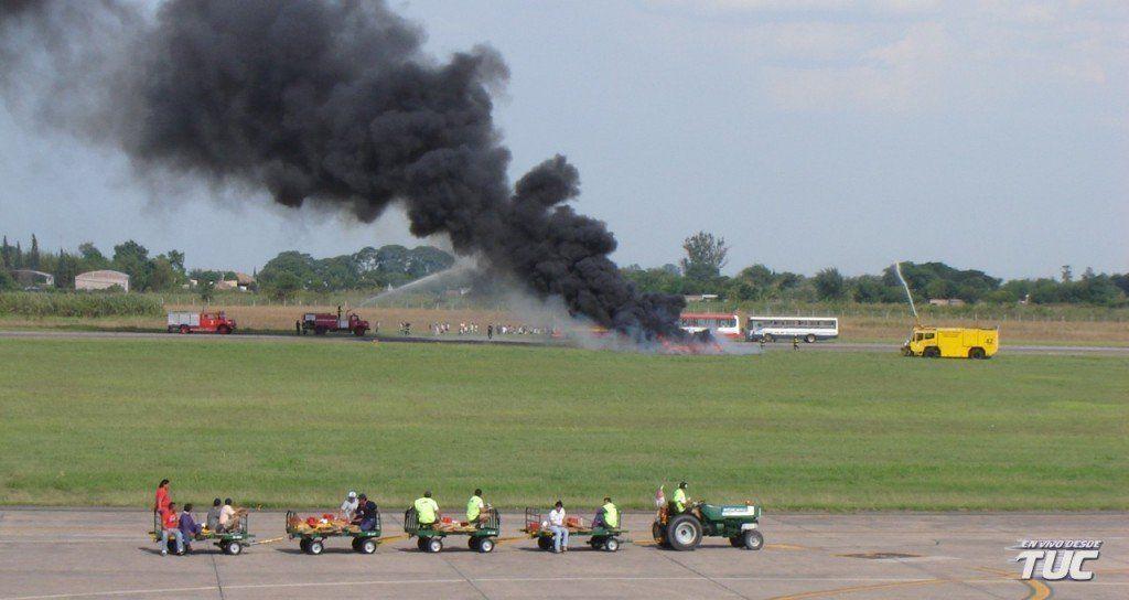 Aeropuerto: desarrollarán un simulacro de accidente aéreo