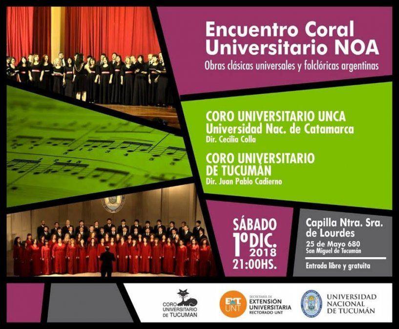 Este sábado habrá un Encuentro Coral Universitario