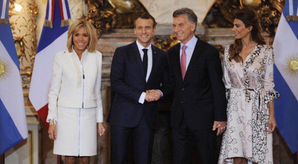 Macri recibió al presidente de Francia Emmanuel Macron en la Casa Rosada
