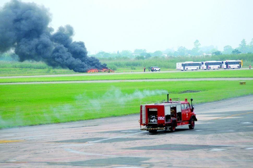 Simularán un siniestro aéreo con 120 víctimas en el aeropuerto