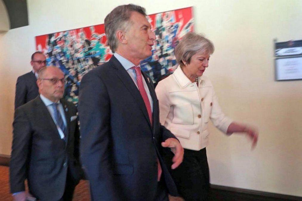 Theresa May y Mauricio Macri se reunieron por primera vez en Buenos Aires