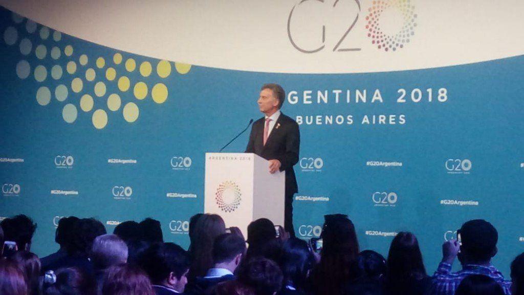 Mauricio Macri anunció que se logró un documento final de la cumbre del G20