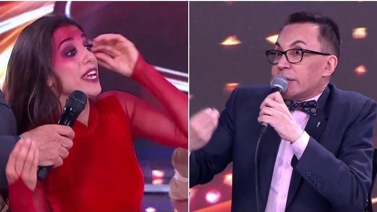 Marcelo Polino y Cinthia Fernández se cruzaron fuerte en el Folclore.