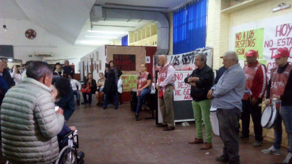 Asamblea en Pami por el despido de trabajadores