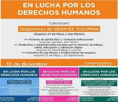 Diferentes sectores se unen por el Día Internacional de los Derechos Humanos