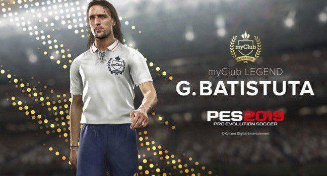 Gabriel Batistuta será leyenda en la modalidad del PES 2019