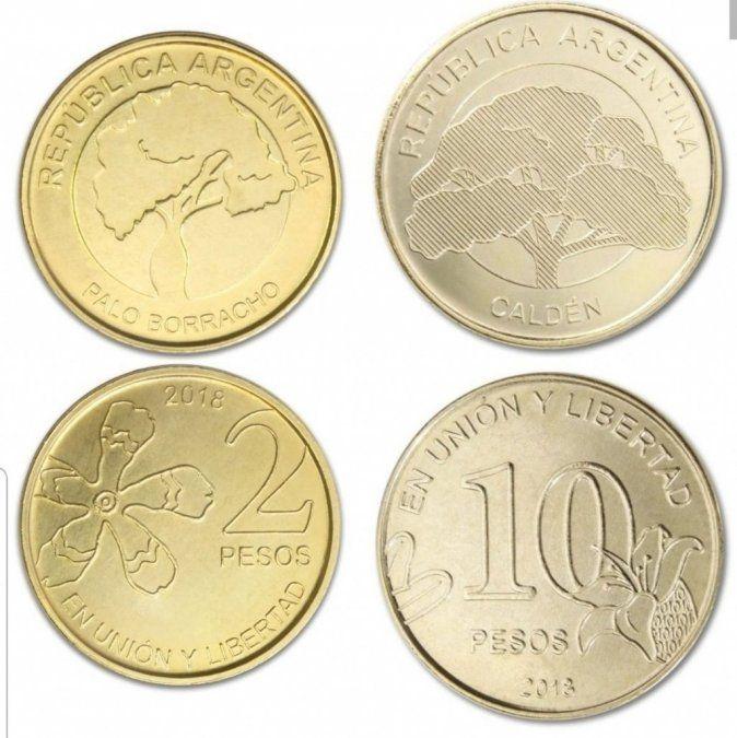 El Banco Central sumó las monedas de 2 y 10 pesos a la circulación