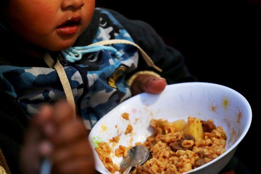 Según la UCA, 13% de los niños argentinos tienen hambre
