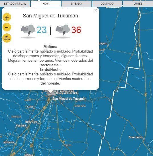 Alerta Meteorológico por fuertes tormentas para Tucumán