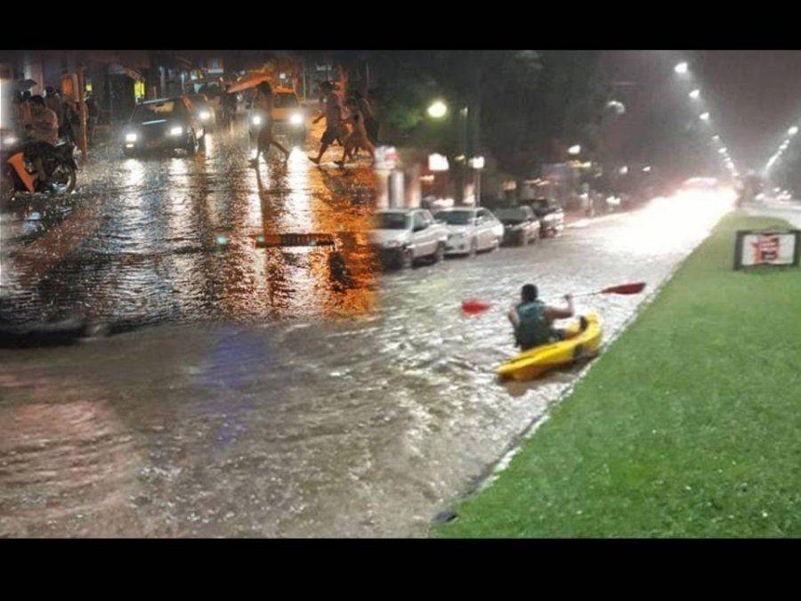 El temporal provocó anegamientos, viento con ráfagas de 60 Km/h y 44mm de lluvia