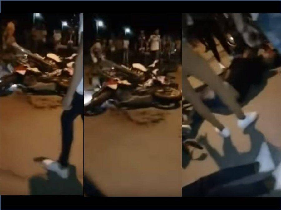 A alta velocidad y sin cascos, tres jóvenes resultaron heridos corriendo una picada en Garmendia