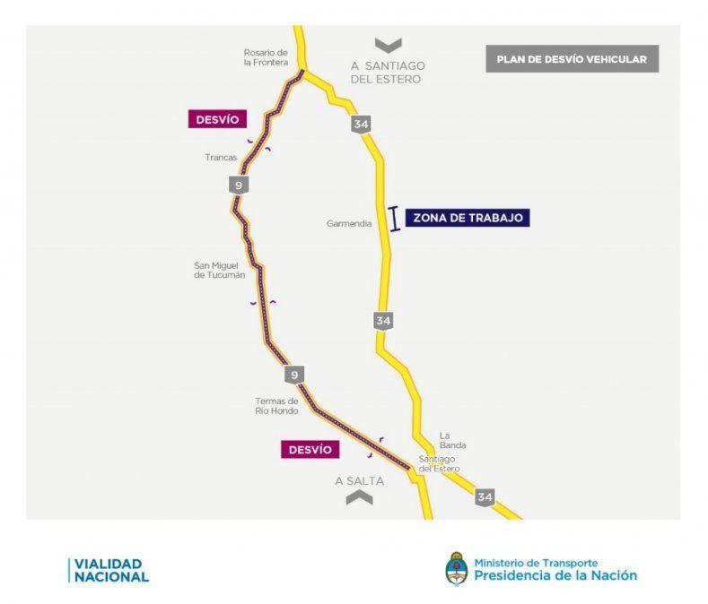Colocarán un puente Bailey en la ruta 34 a la altura de Garmendia