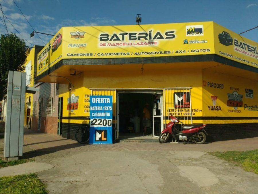 Asaltaron un negocio de venta de baterías en Alem al 1300