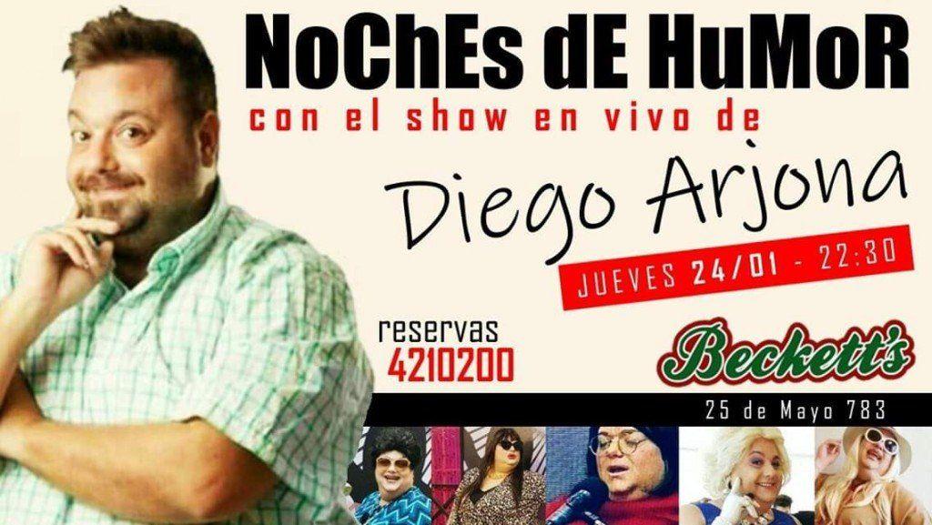 Diego Arjona estrena su espectáculo como parte del  ciclo Noches de Humor