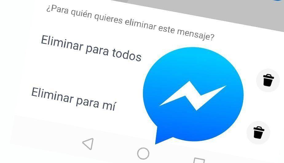 Facebook habilita la opción de Borrar mensajes en Messenger