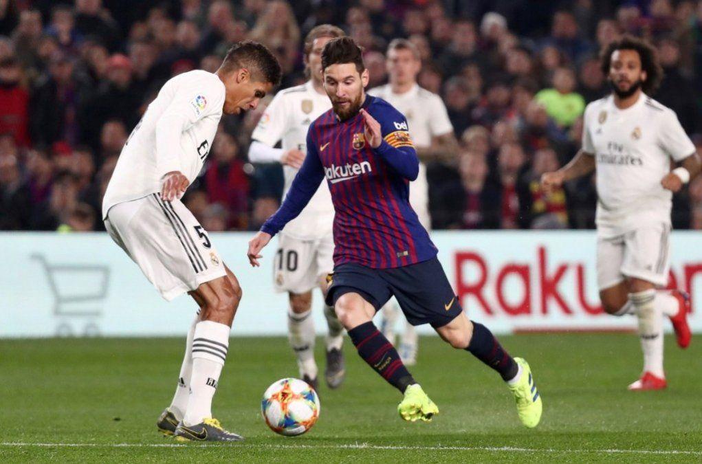 Con un rato de Messi, Barcelona y Real Madrid empataron 1 a 1 por la Copa del Rey
