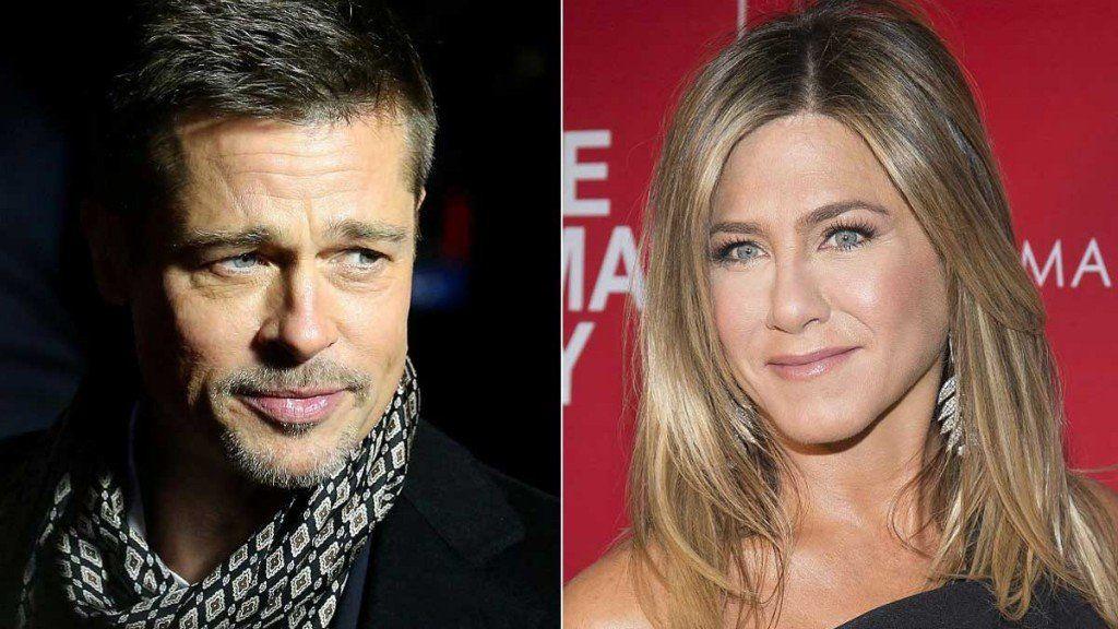 Brad Pitt en el cumpleaños de Jennifer Aniston