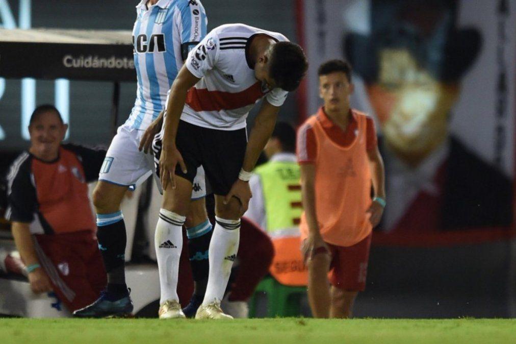 Exequiel Palacios se fracturó el peroné: más de un mes de baja