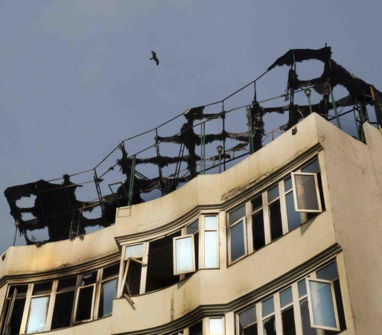 Murieron 17 personas al incendiarse un hotel en India