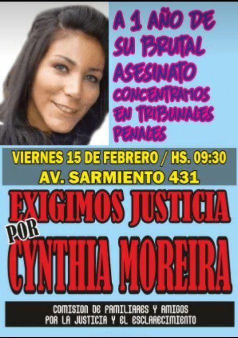 Marcharán exigiendo Justicia por el crimen de Cynthia Moreira