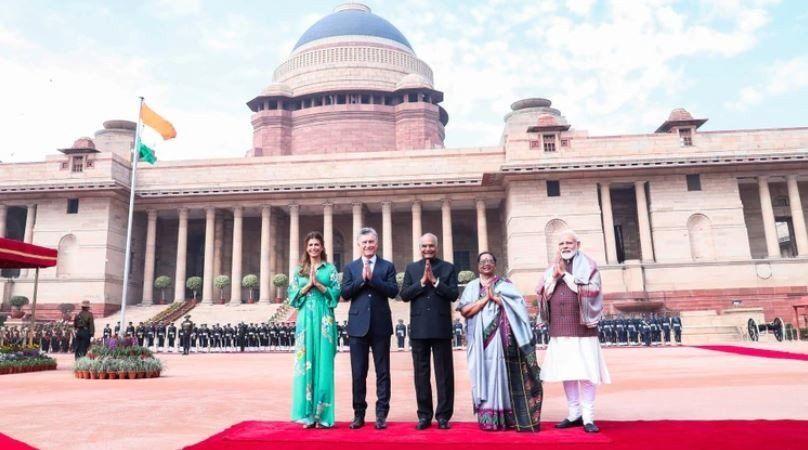 El presidente Mauricio Macri comenzó su visita oficial a la India