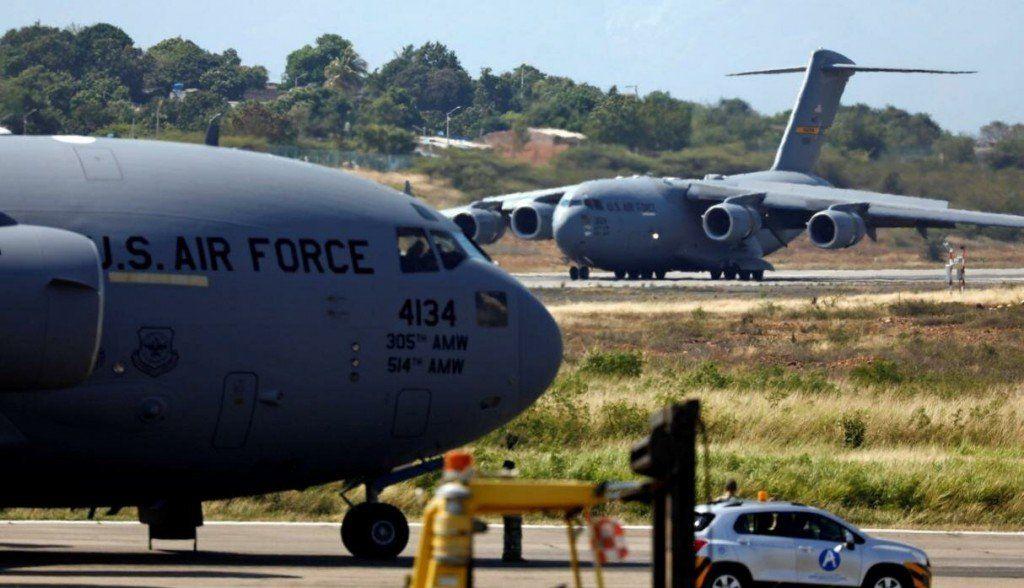 Llegaron a Colombia tres aviones militares de EEUU con nueva ayuda humanitaria para Venezuela