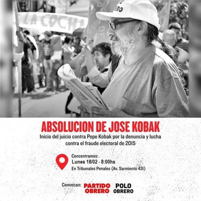 Comienza hoy el juicio oral contra el dirigente José Pepé Kobak