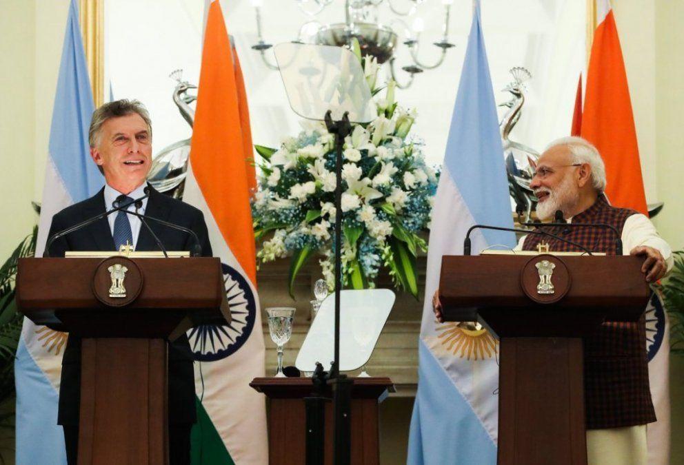 ¿Qué puntos tocaron Macri y el primer ministro de India en Nueva Delhi?