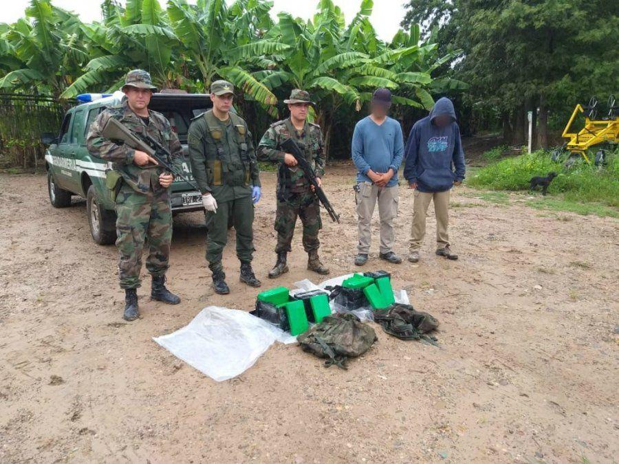 Decomisaron más de 30 kilos de cocaína que ingresó al país por el río Bermejo