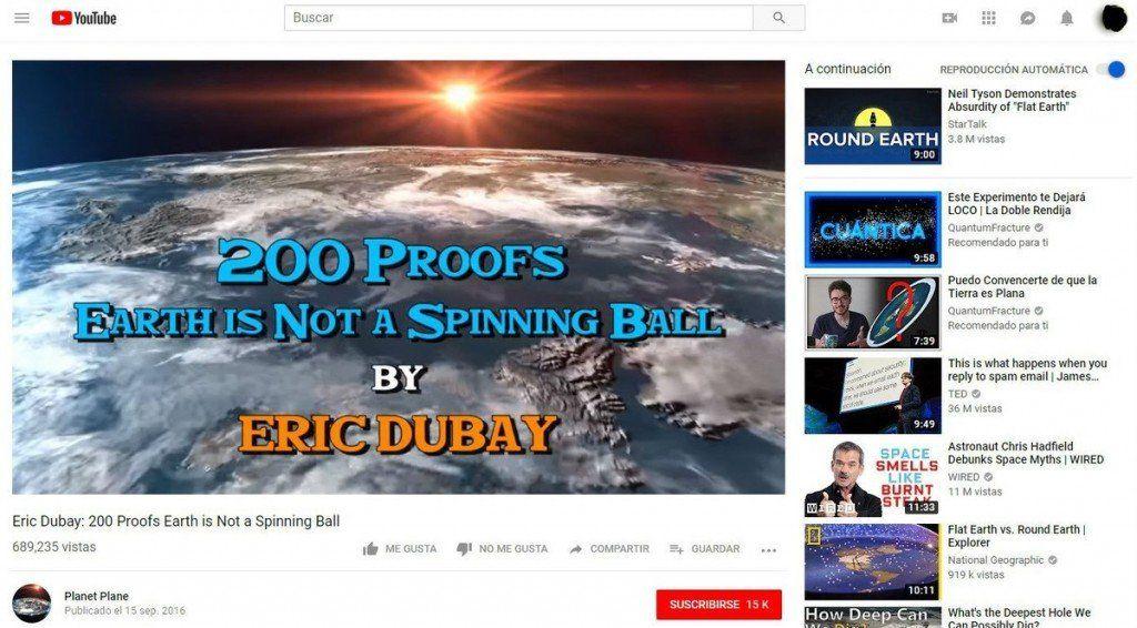 Un estudio culpa a YouTube por el aumento en el número de personas que creen que la Tierra es plana