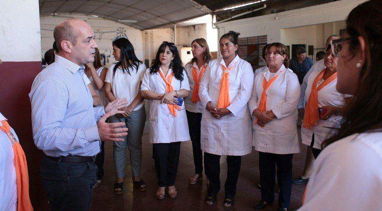 Lichtmajer visitó Aguilares para coordinar acciones por el inicio de clases