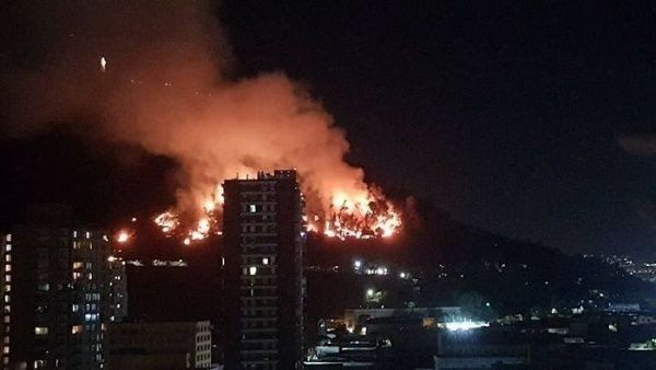 Controlaron un incendio en el pulmón vegetal de Santiago de Chile