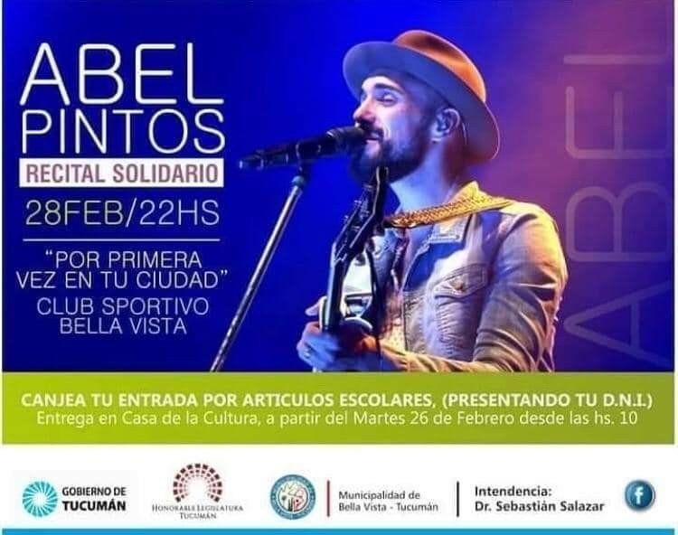 Recital solidario de Abel Pintos en Bella Vista