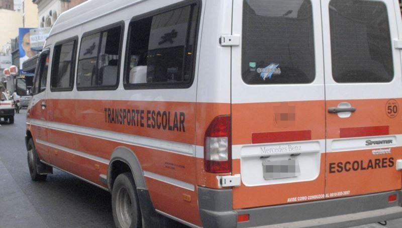 Transportes escolares: Hemos fijado la tarifa en 2600 pesos para este año