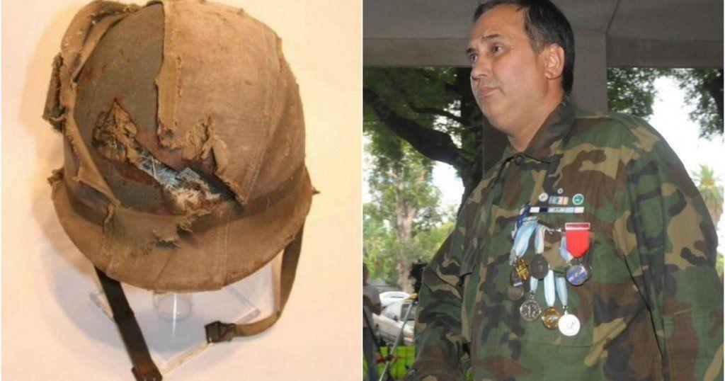 Un ex combatiente de Malvinas podrá recuperar el casco que le salvó la vida