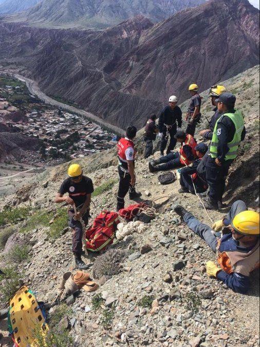 Una turista se cayó en el cerro Verde de Purmamarca