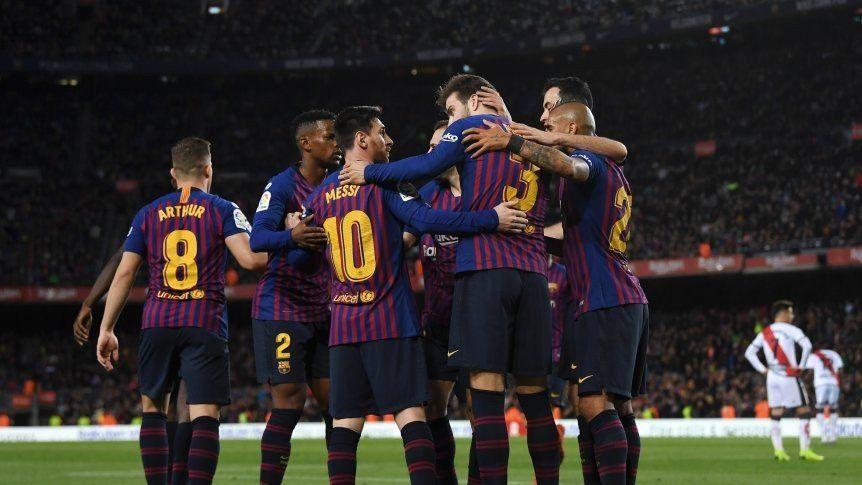 Messi convirtió en la victoria del Barcelona sobre el Rayo Vallecano