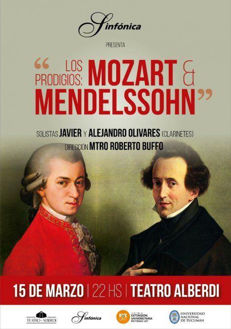 """La Orquesta Sinfónica de la UNT presenta """"Los Prodigios: Mozart & Mendelssohn"""""""