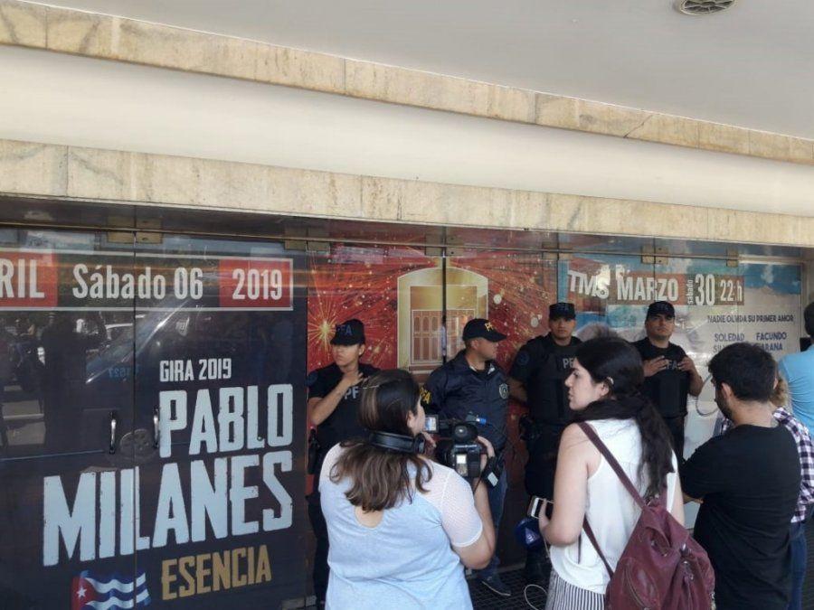 La Policía Federal realizó pericias en el Teatro Mercedes Sosa