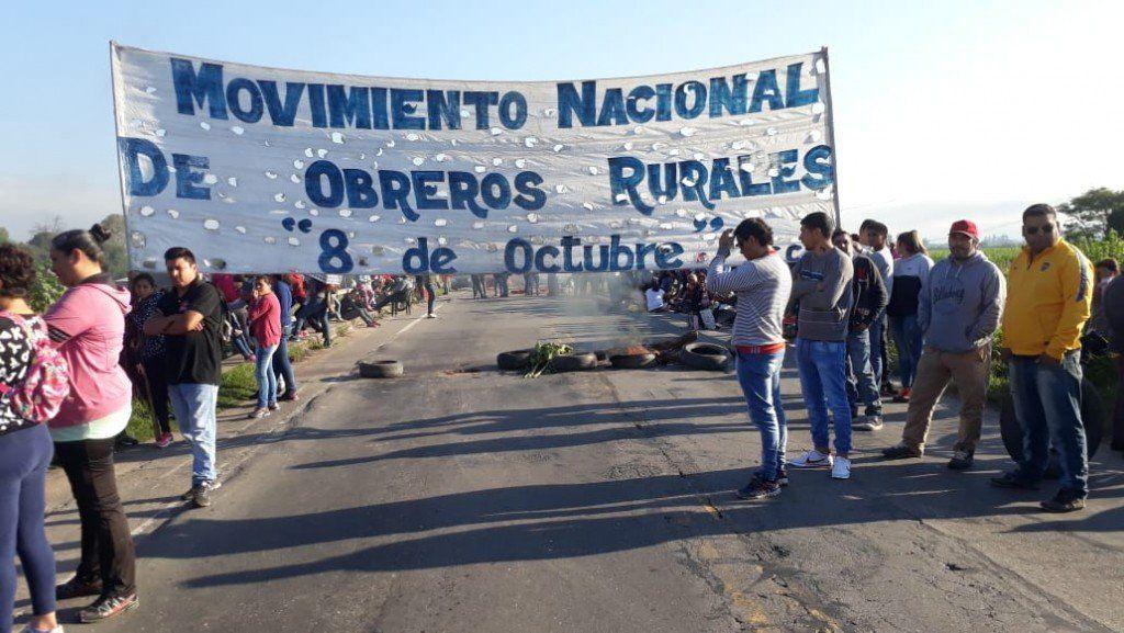 Trabajadores rurales cortaron rutas en distintos puntos de la provincia